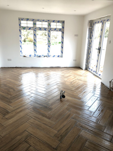 New flooring in new extension