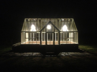 Victorian Greenhouse by night