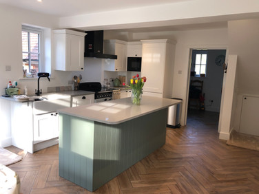 New kitchen in extension
