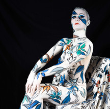 Body painting camouflage