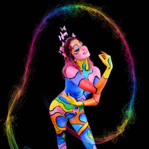 Body painting Pop Colors