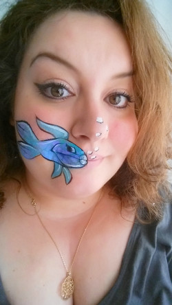 face painting fish