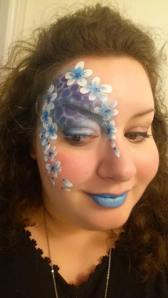 face painting fleurs