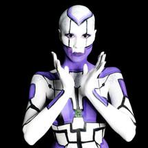 Body painting cyborg