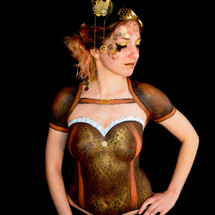 body painting Steampunk