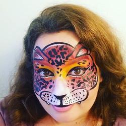 Léopard face painting
