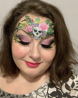 face painting skull