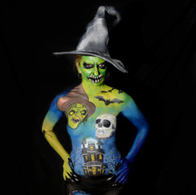 Body painting Halloween