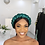 Thumbnail: Braided Emerald Sequin Turban Band
