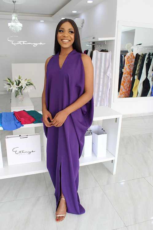 Femi Purple Kaftan