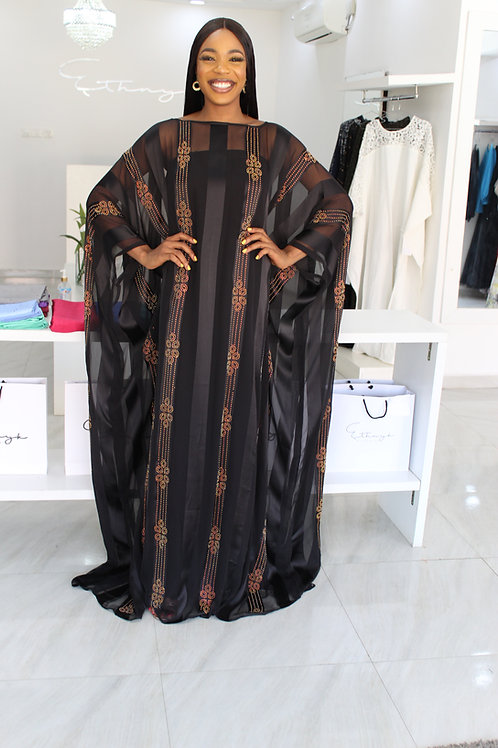 Sisi Renaissance in Black  Kaftan