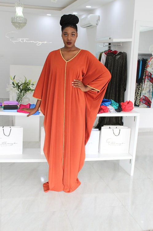 Bimpe Kaftan Burnt Orange