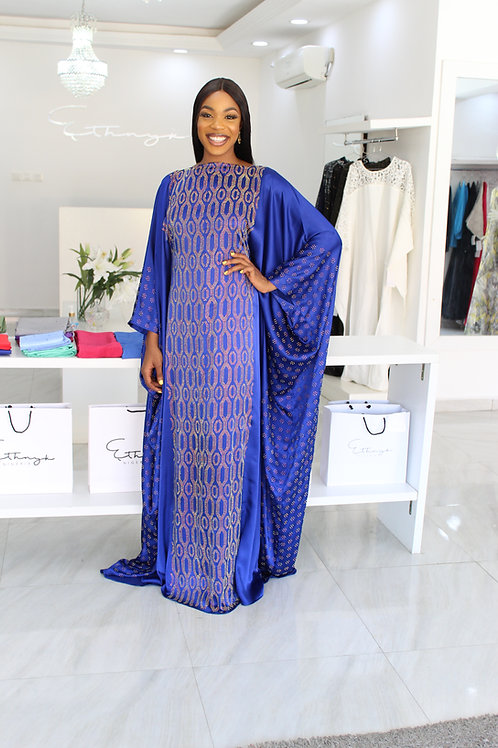 Lara Sisi Hexa in Royal Blue  Kaftan