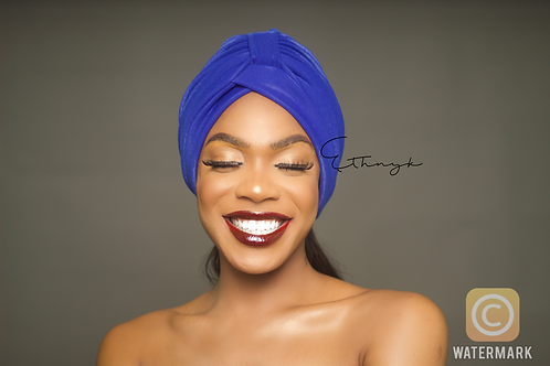 Peju Turban Royal Blue