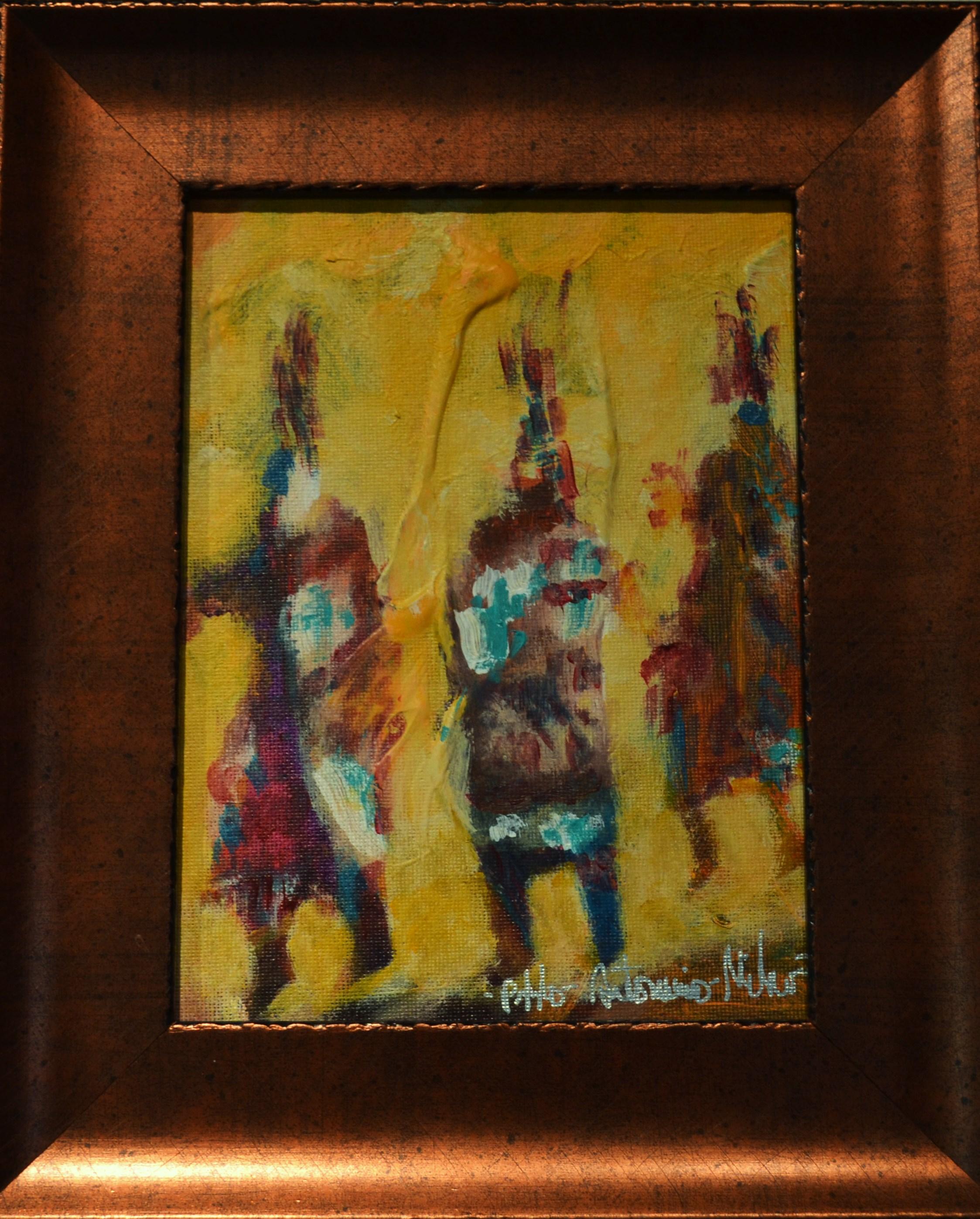 Hopi Dancers 8x6 framed