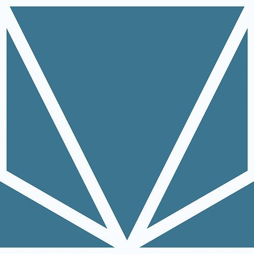 Porcelánico Origami Blue