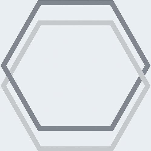 Porcelánico Hexagon Grey