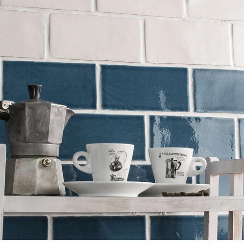 Azulejo Craquelle  Blue Ocean 7,5 x 15