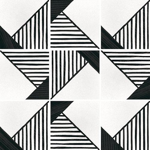 Porcelánico Origami B&W