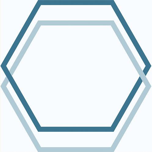 Porcelánico Hexagon Blue