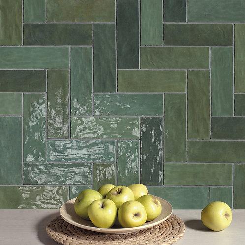 Azulejo Riad Green 6.5 x 20