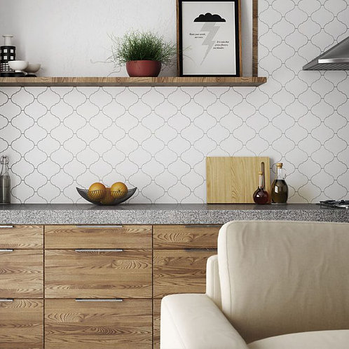 Mosaico Alhambra Blanco Mate