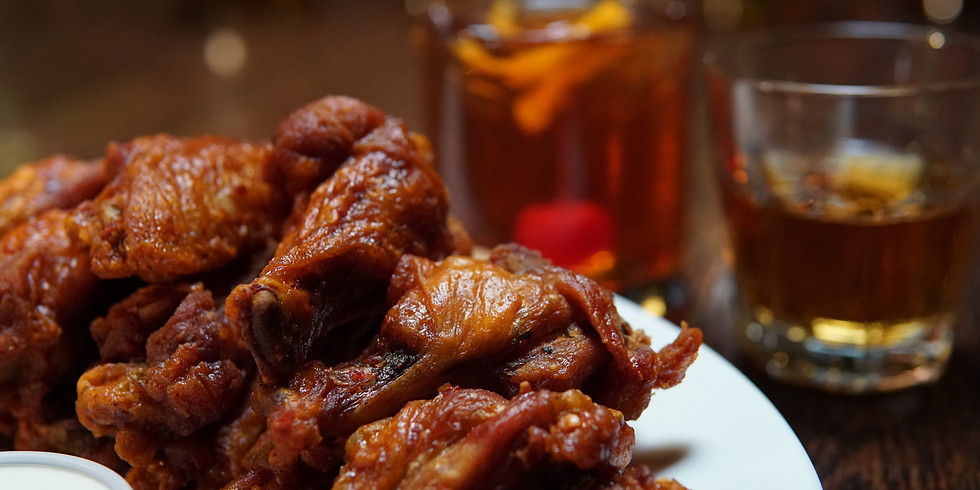 BYOB Boozy Baking- Whiskey & Wings Edition