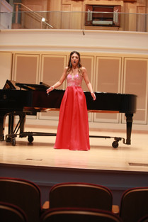 In recital, Indiana University, July 2018