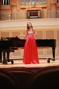 In recital, Indiana University, July 2018