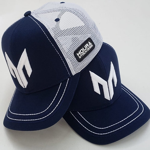 Blue and white Moura Stock Dogs Cap