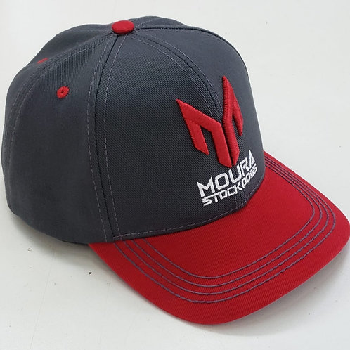 Grey & Red Moura Stock Dogs Cap
