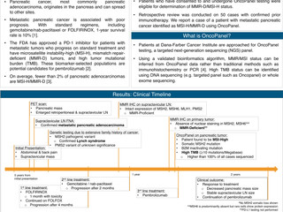Prolonged response to metastatic pancreatic cancer treated with pembrolizumab based on mismatch repa