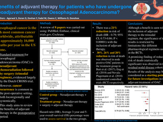What is the benefit of adjuvant therapy for patients who have undergone neoadjuvant therapy for Oeso