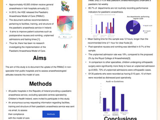 A survey of compliance with the HSE Paediatric Anaesthesia Model of Care in Irish hospitals and a lo