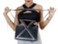 Siamese black handbag