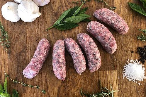 Minty Lamb Sausages