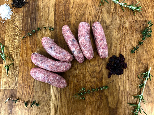 Rosemary & Cranberry Lamb Sausages