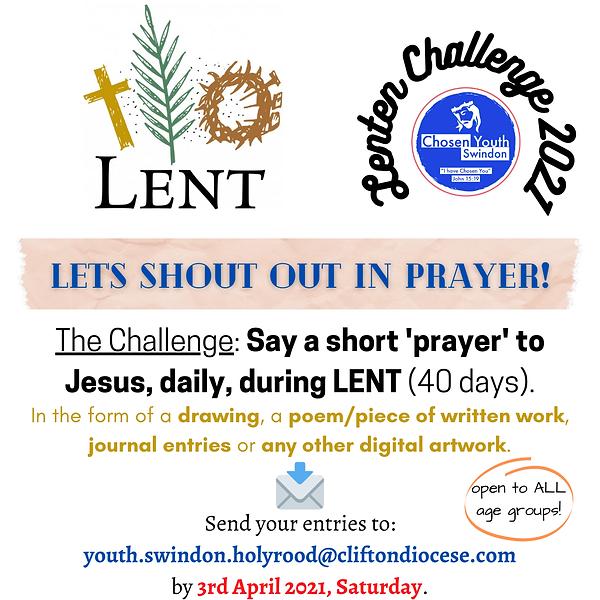 Lenten Challenge 2021 Lent poster