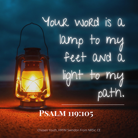 Your word is a lamp to my feet and a lig