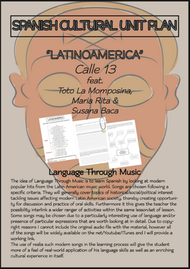 Spanish Cultural Unit Plan - Language through Music: Latinoamerica by Calle13