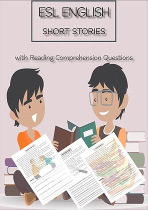 ESL ENGLISH SHORT STORIES Questions VOL1 Levels Beginner-Intermediate