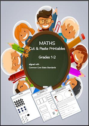 Maths Cut Paste Interactive Activity Book grades1-3