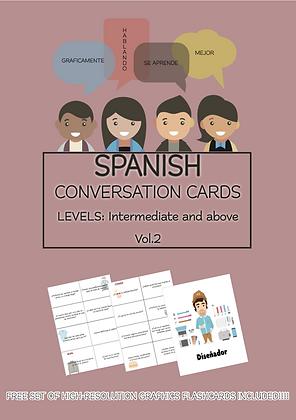 SPANISH Conversation Cards LEVEL Intermediate VOL 2