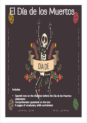 Spanish Culture Themed Lesson El Dia de los Muertos