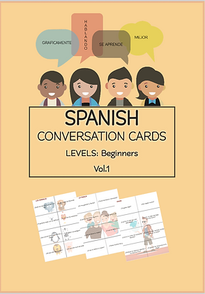 SPANISH Conversation Cards LEVEL Beginners VOL1