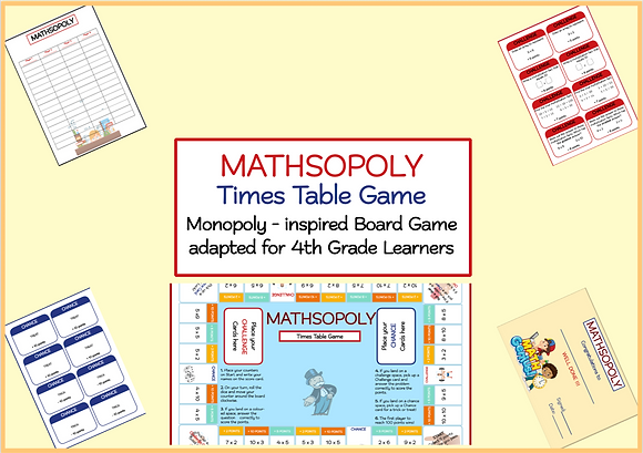 MATHSOPOLY -Times Table Game