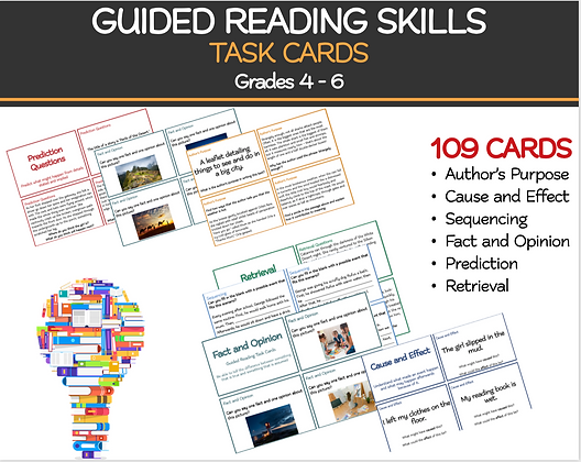 GUIDED READING SKILLS Task Cards