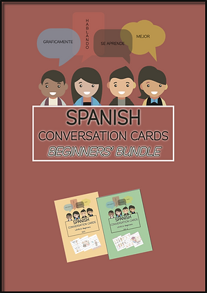 SPANISH Conversation Cards BEGINNERS BUNDLE