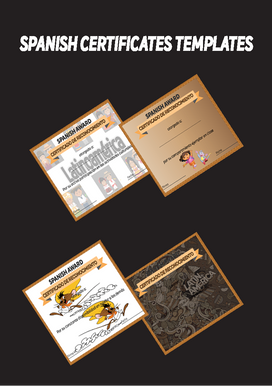 Spanish Certificates|Awards Templates