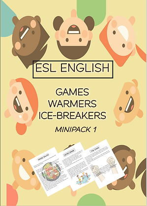 ESL ENGLISH Games Warmers Icebreakers Mini-pack1